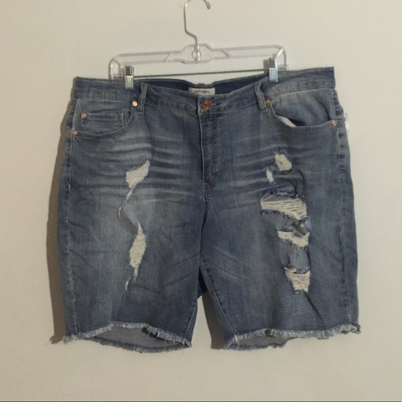 3dfc04926a Charlotte Russe Shorts | Plus Size Distressed Bermuda | Poshmark